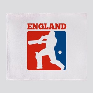 cricket batsman england Throw Blanket