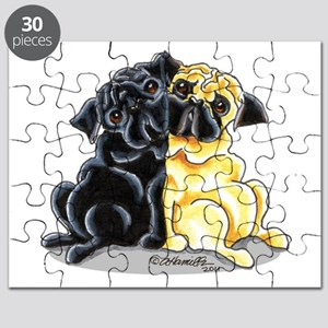 Black n' Fawn Pug Puzzle