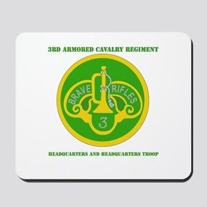 HQ and HQ Troop, 3rd ACR with Text Mousepad