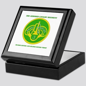 HQ and HQ Troop, 3rd ACR with Text Keepsake Box