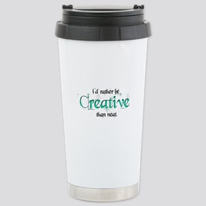 Rather Be Creative Stainless Steel Travel Mug