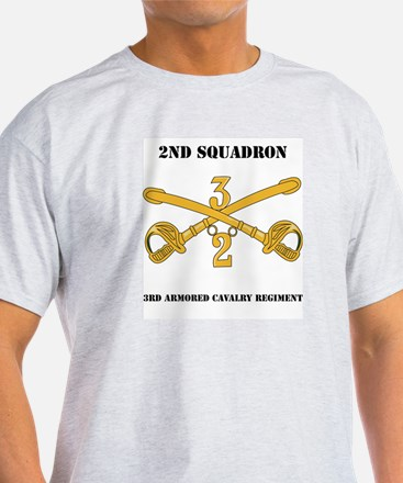 DUI - 2nd Squadron - 3rd ACR with text T-Shirt
