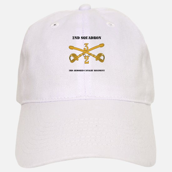DUI - 2nd Squadron - 3rd ACR with text Baseball Baseball Cap