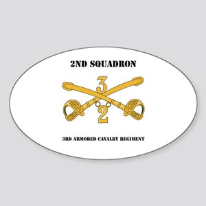 DUI - 2nd Squadron - 3rd ACR with text Sticker (Ov