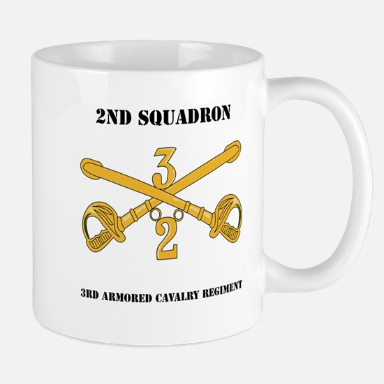 DUI - 2nd Squadron - 3rd ACR with text Mug
