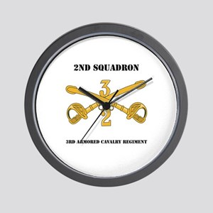 DUI - 2nd Squadron - 3rd ACR with text Wall Clock