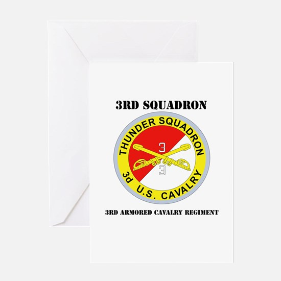 DUI - 3rd Sqdrn - 3rd ACR with Text Greeting Card
