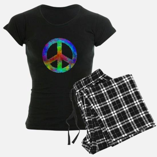Multicolored Peace Sign Pajamas