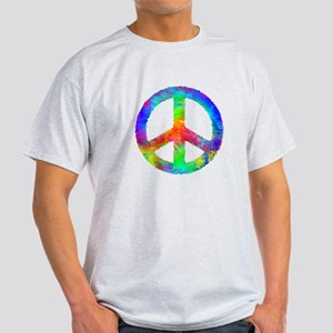Multicolored Peace Sign Light T-Shirt