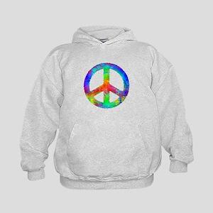 Multicolored Peace Sign Kids Hoodie