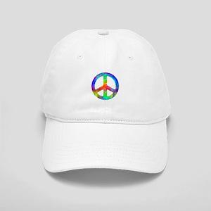 Multicolored Peace Sign Cap