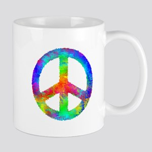 Multicolored Peace Sign Mug