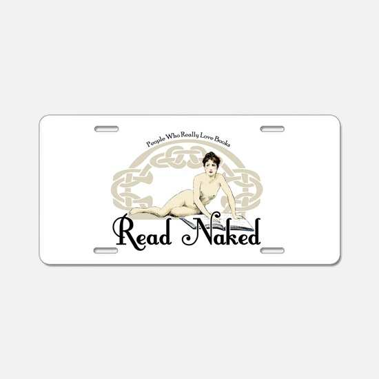 Read Naked Aluminum License Plate