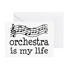 Orchestra is My Life Music Gift Greeting Cards (Pk