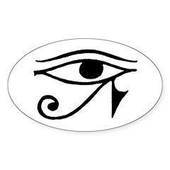 Eye Of Horus Oval Decal