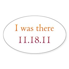 I was there - 11.18.11 Twilig Sticker (Oval)