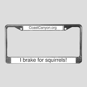 """""""I brake for squirrels"""" License Plate"""