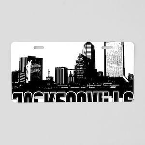 Jacksonville Skyline Aluminum License Plate