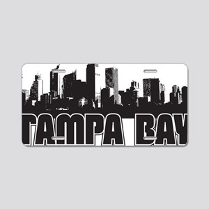 Tampa Bay Skyline Aluminum License Plate
