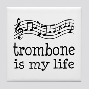 Trombone is My Life Music Gift Tile Coaster