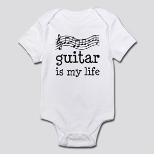 Guitar is My Life Music Gift Infant Bodysuit
