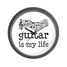 Guitar is My Life Music Gift Wall Clock