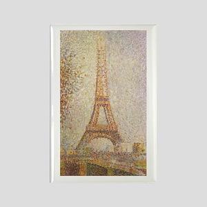 Eiffel Tower by Seurat Rectangle Magnet