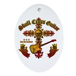 Skull Cross Guitar Ornament (Oval)
