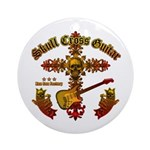 Skull Cross Guitar Ornament (Round)