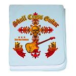 Skull Cross Guitar baby blanket
