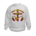 Skull Cross Guitar Kids Sweatshirt