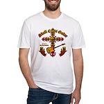 Skull Cross Guitar Fitted T-Shirt