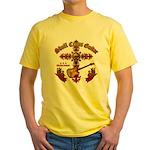 Skull Cross Guitar Yellow T-Shirt