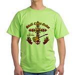 Skull Cross Guitar Green T-Shirt