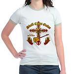 Skull Cross Guitar Jr. Ringer T-Shirt