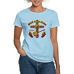 Skull Cross Guitar Women's Light T-Shirt