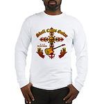Skull Cross Guitar Long Sleeve T-Shirt