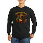 Skull Cross Guitar Long Sleeve Dark T-Shirt