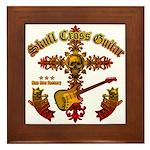 Skull Cross Guitar Framed Tile