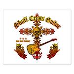 Skull Cross Guitar Small Poster