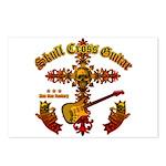 Skull Cross Guitar Postcards (Package of 8)