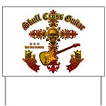 Skull Cross Guitar Yard Sign