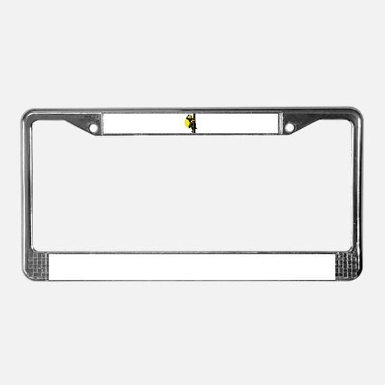 power lineman repairman License Plate Frame