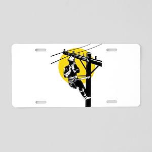 power lineman repairman Aluminum License Plate
