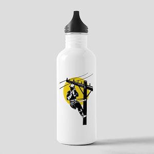 power lineman repairman Stainless Water Bottle 1.0