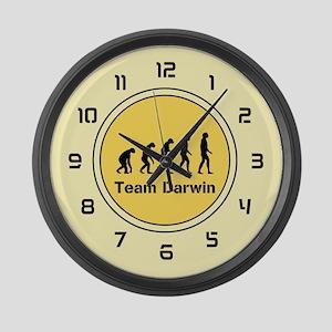 Team Darwin (yellow) Large Wall Clock