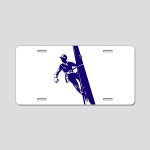 power lineman repairman Aluminum License Plate