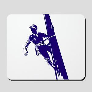 power lineman repairman Mousepad