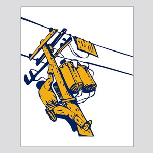 power lineman repairman Small Poster