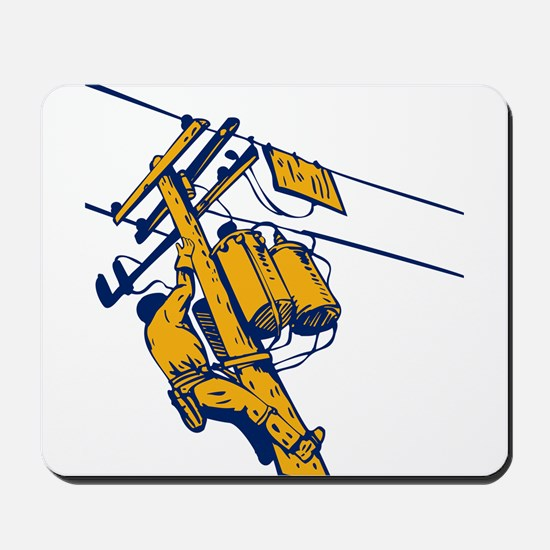 power lineman repairman Mousepad